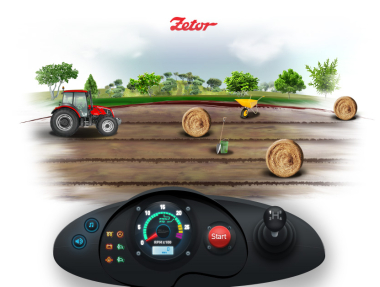 Race of tractor game